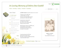 Memorial website tribute features - Adding stories and keeping a personal diary